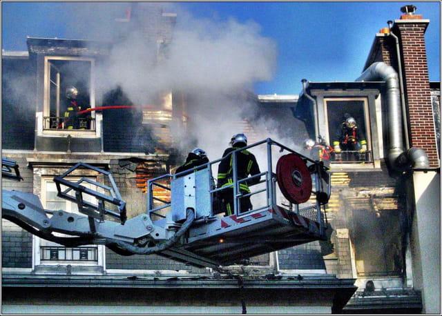 Pompiers dans l'action