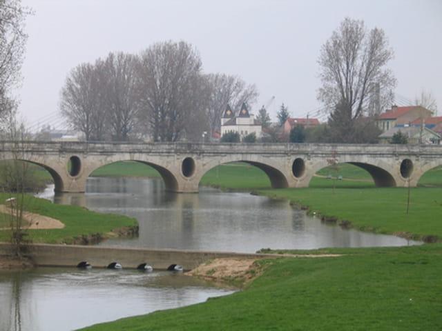 Pont d'époque ancienne, à Chalon-sur-Saône.
