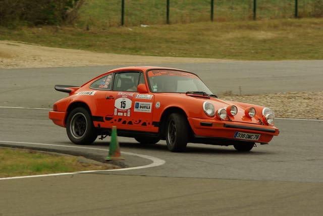 Porsche en piste