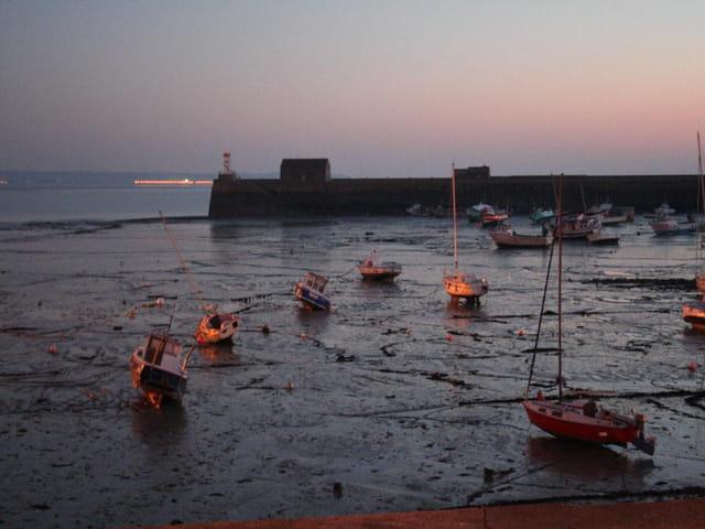 Port de pêche à marée basse