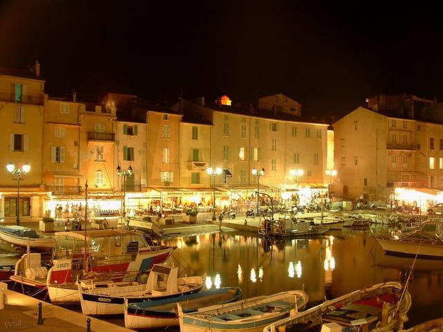 Port de Saint-Tropez de nuit