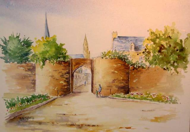 Porte vannetaise à Guérande