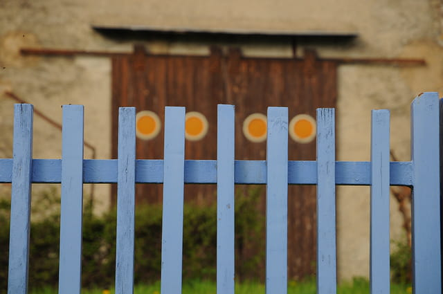 Portillon bleu