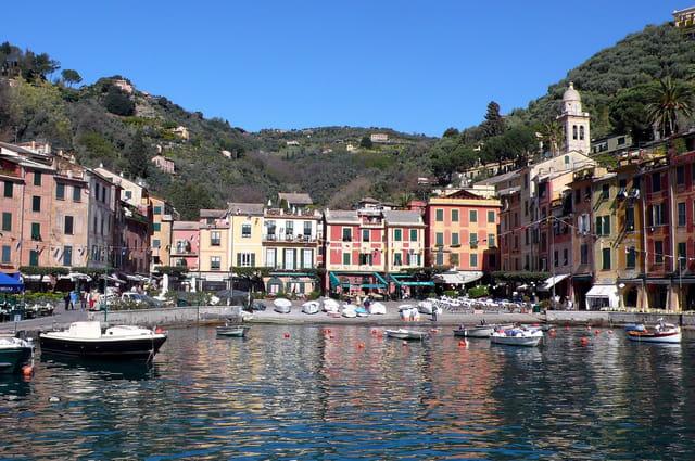 Portofino ,village de pêcheurs de la côte ligure.