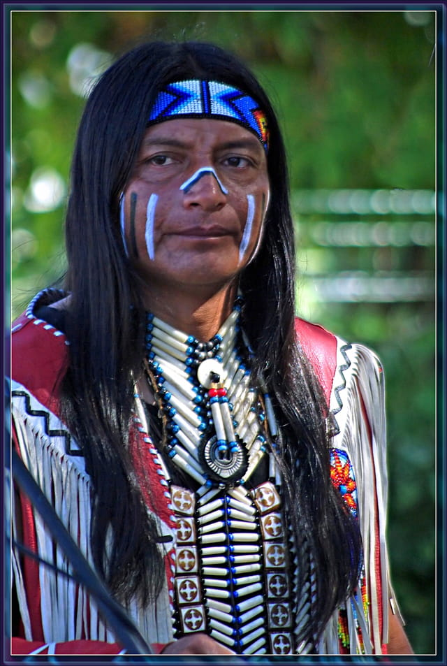 Portrait de natif d'Amérique