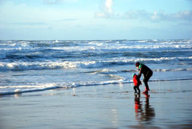 promenade du dimanche au bord de l'Océan