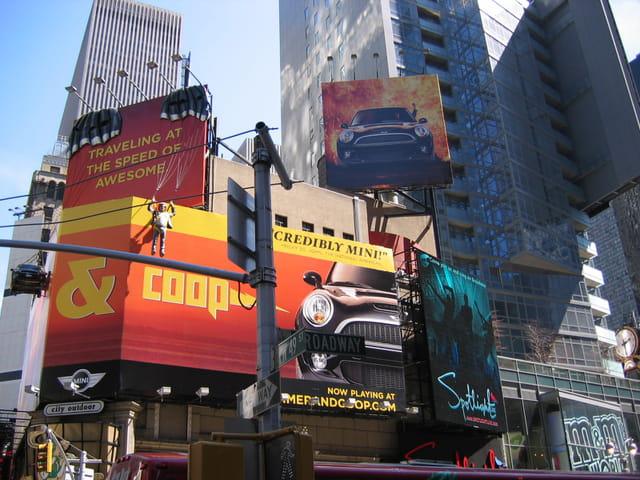 Publicités à times square