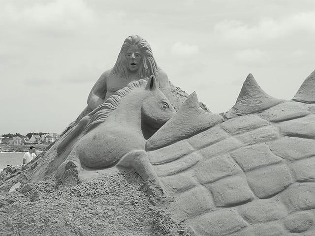 Qu'avec du sable