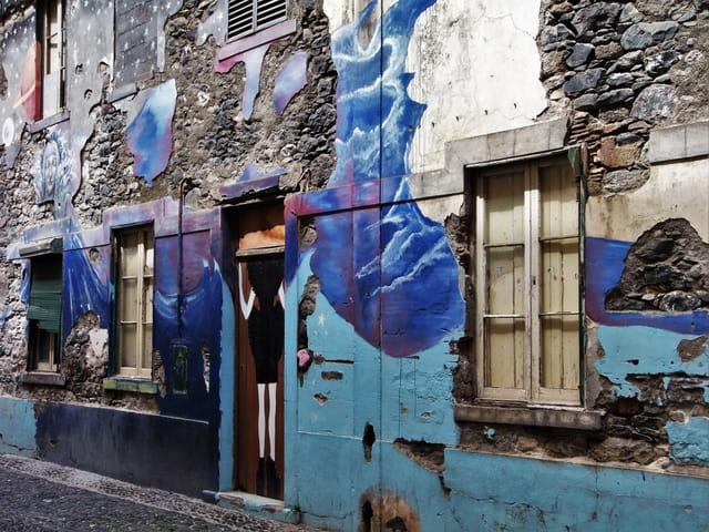 Quartier des peintres à Funchal ( Madère )
