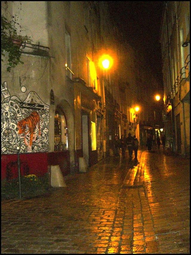 Quartier du Marais, la nuit