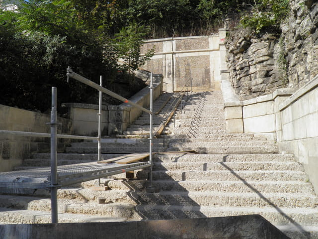 Rampe des grottes, escalier nord : du Pecq vers Saint-Germain