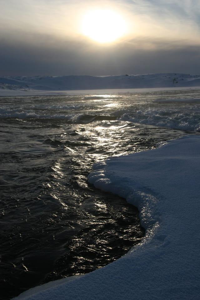 Rapides et eau glacée