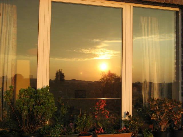 Reflet de lever du soleil