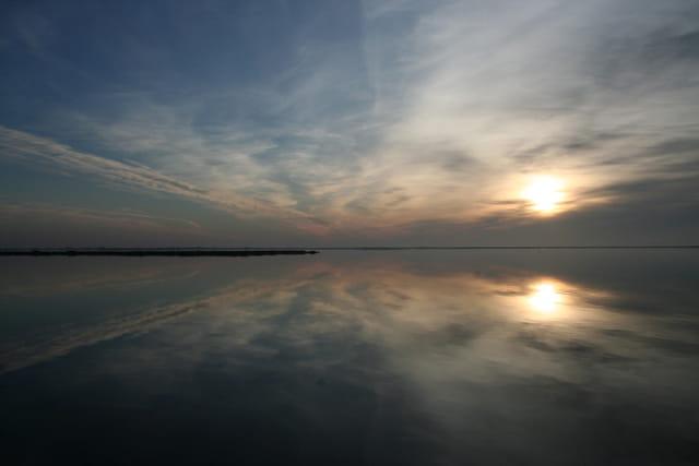 Reflet du ciel en fin de journée