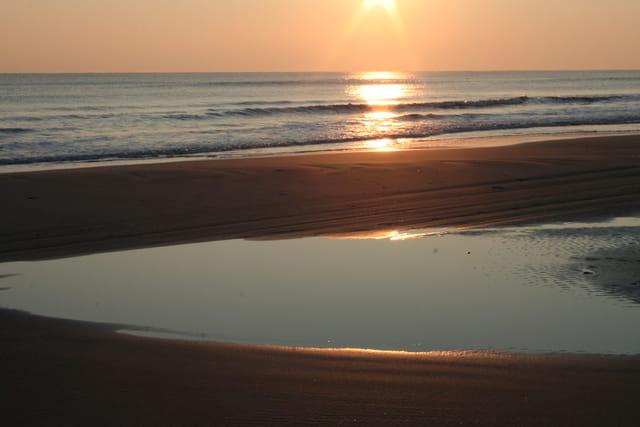 Reflet du soleil sur mer