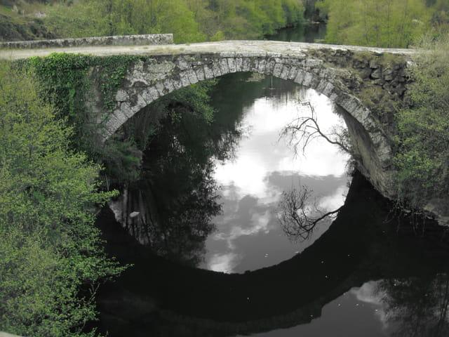 Reflet en haut, en bas