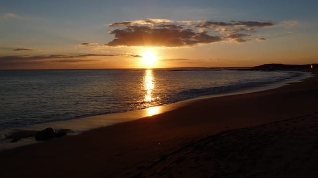 Reflets du coucher de soleil