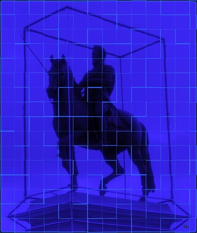 Relookage de la statue équestre de Henri IV