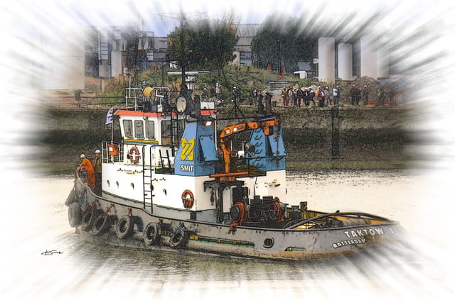 Remorqueurs en Seine à Rouen