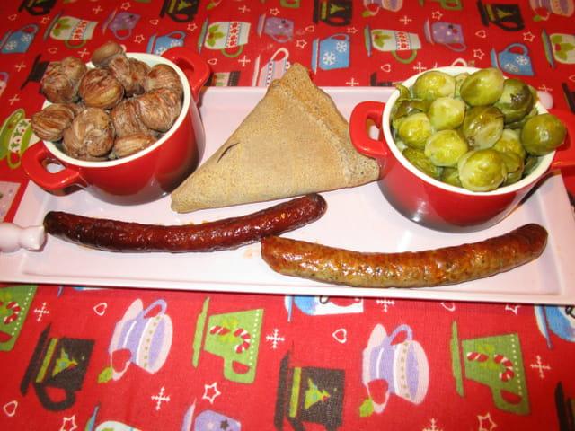Repas avec ch taignes et choux de bruxelles du jardin par - Cuisiner choux de bruxelles ...