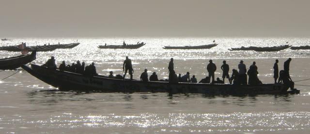 Retour de pêche au port de M'BOUR