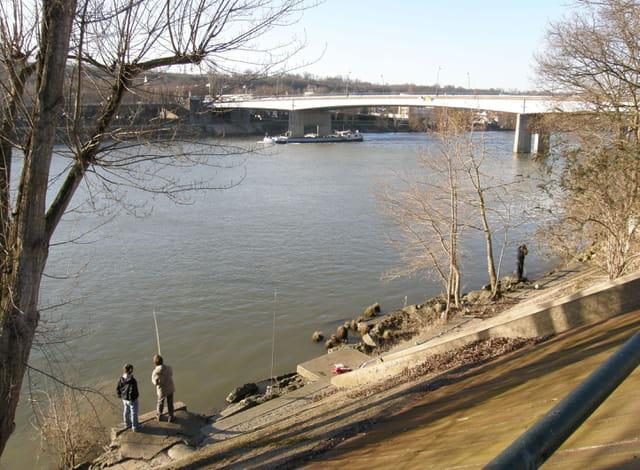 Rive de Seine au Pecq, en hiver