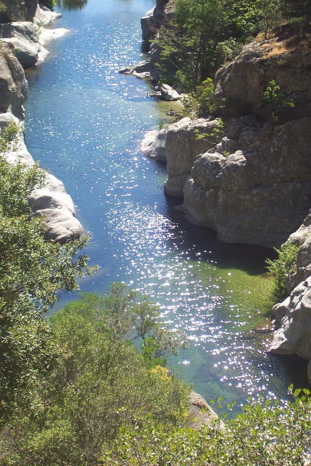 Rivière bleue et verte