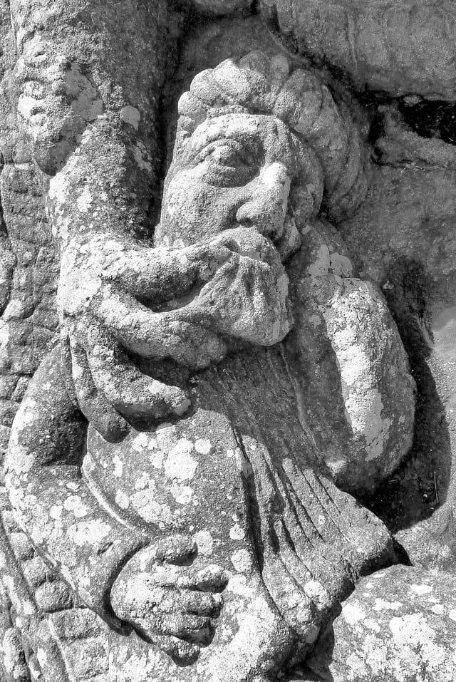 Rocher de grès sculpté, Rotheneuf (35)