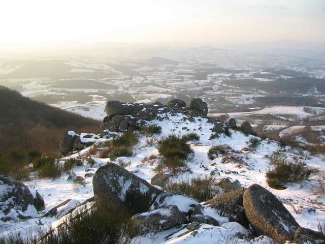 Rochers d'uchon en hiver