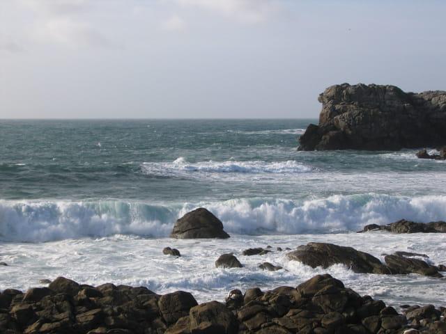 Rochers sur l'ocean