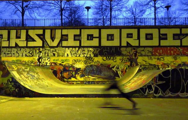 Roller et street-art