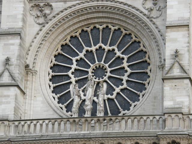 Rosace façade Notre-Dame