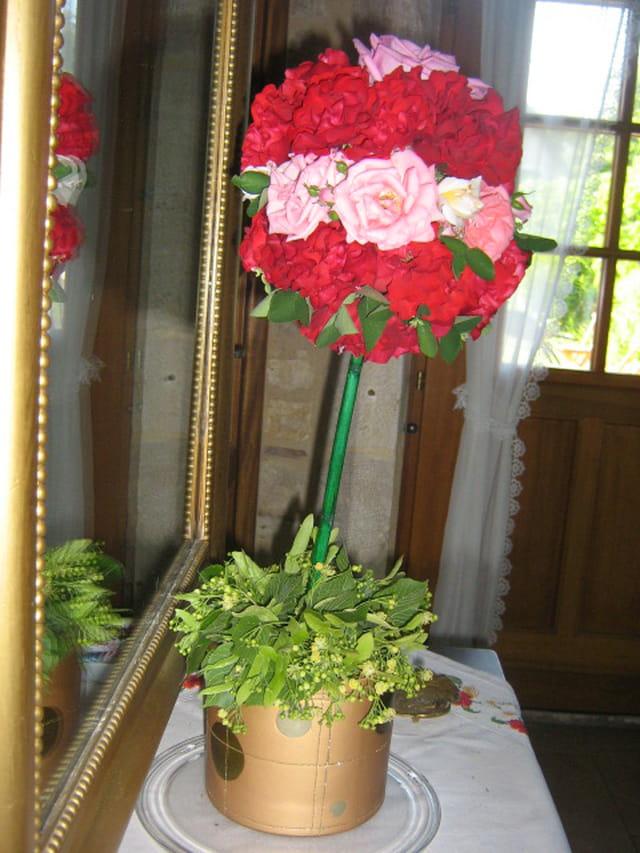 Roses en boule