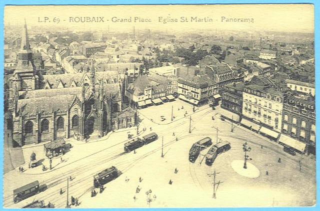 ROUBAIX - Grand Place - Eglise St-Martin - Panorama