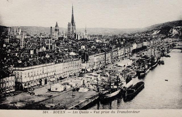 Rouen : les quais vus du Transbordeur