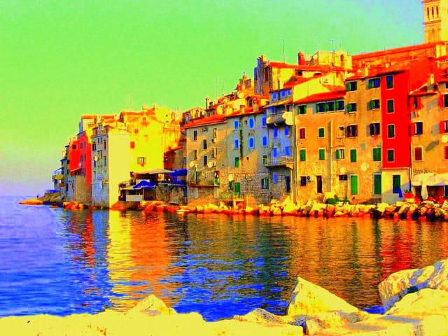 Rovigno en Croatie
