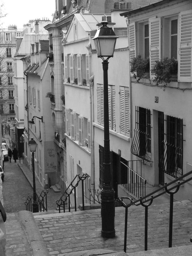Rue à montmartre