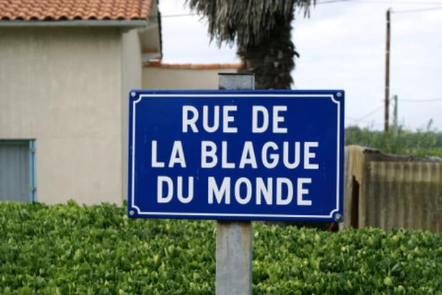 Rue de la Blague du Monde (à Arvert - Charente Maritime)