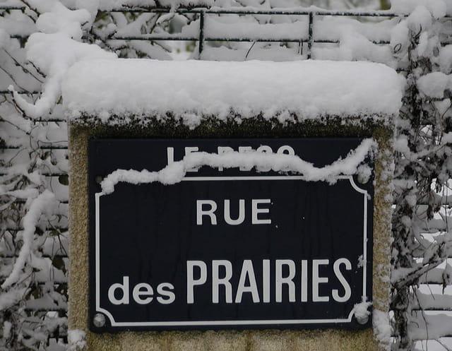 Rue des Prairies sous la neige
