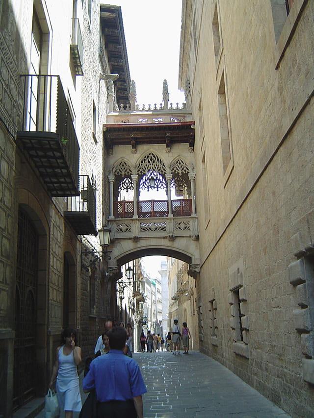 Rue piétonne de barcelone