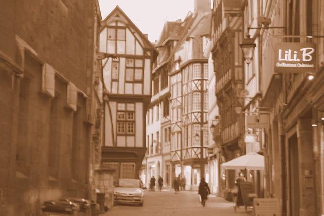 Rue St Romain.,Rouen
