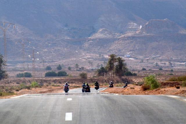 Run moto en Tunisie