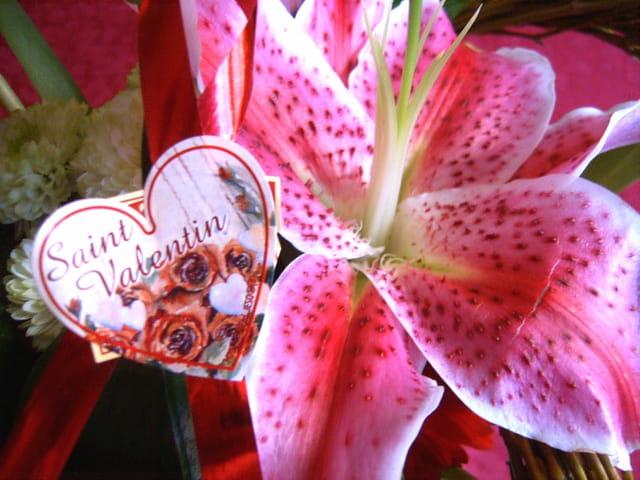 Saint valentin, bouquet