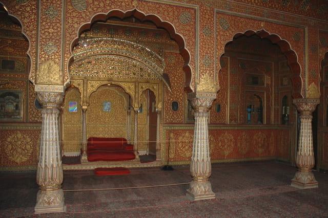 Salle du couronnement décorée