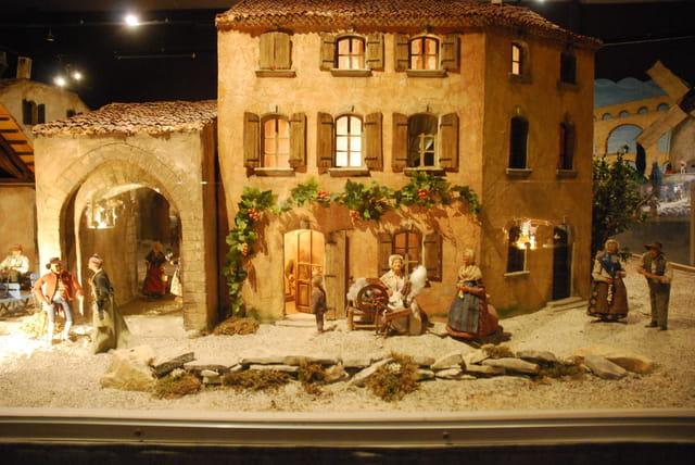 scène de la vie d'autrefois en Provence