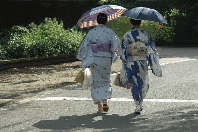 Scène de la vie quotidienne au Japon