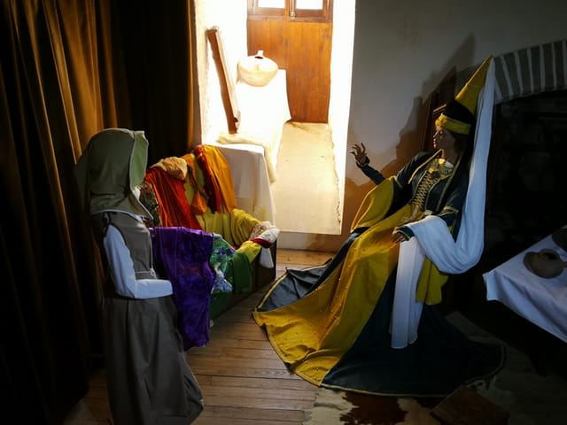 scène de vie au Moyen Age
