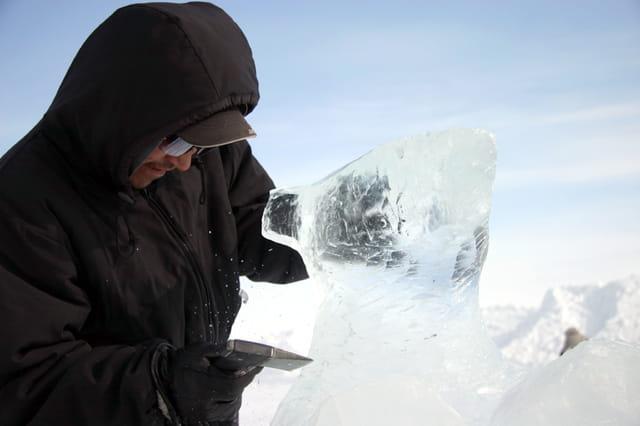 Scupture sur glace