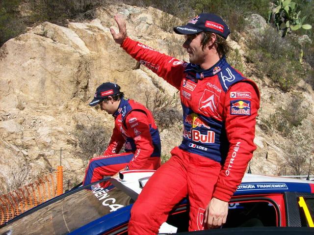 Sebastien Loeb à l'arrivée du tour de corse 2008