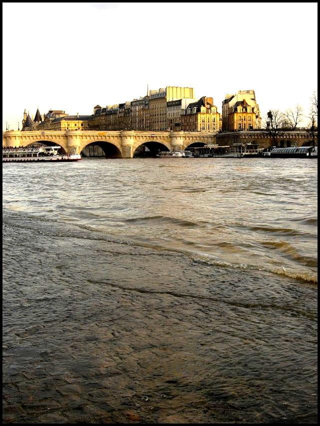 Seine en crue & pont-neuf